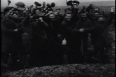 World War One ends and the world celebrates Footage