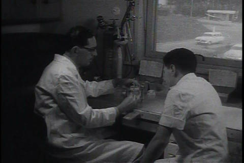 The U.S. Army dental corps treats patients Footage