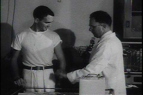 The Asian Flu epidemic of 1957 is effectively comb Footage