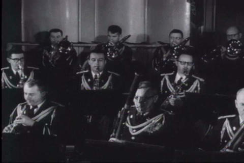 The Army band plays patriotic music Footage