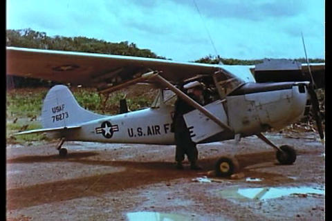 Light aircraft are used in the Vietnam War to prep Live Action