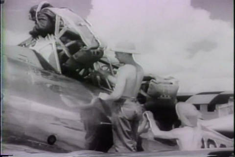 Early astronauts fly into the stratosphere in 1943 Footage