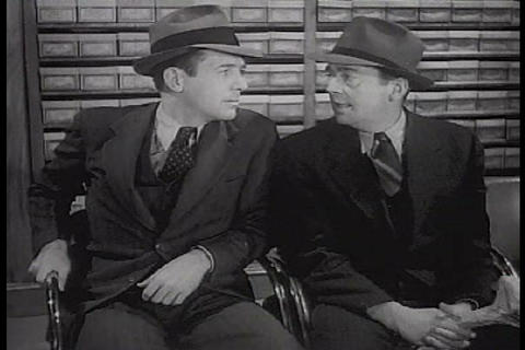 Two men go shopping for shoes in the 1940s Live Action