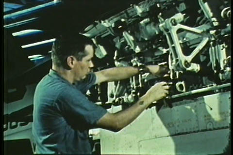 Life aboard an aircraft carrier in the 1960s Footage