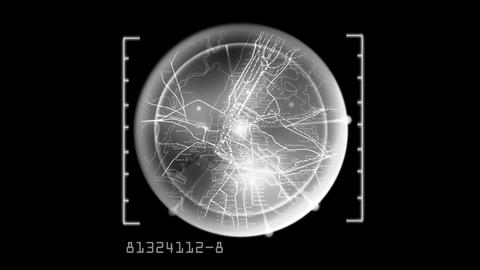 radar map CG動画素材