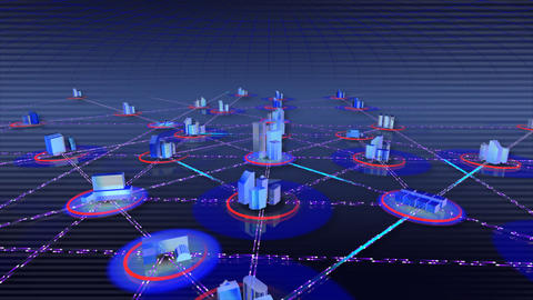 Network City a Stock Video Footage