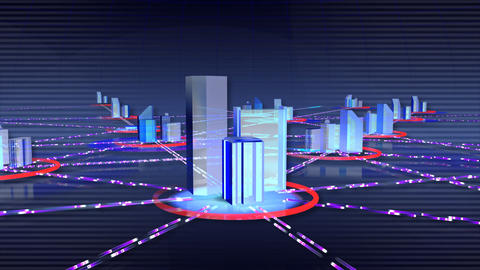 Network City c Stock Video Footage