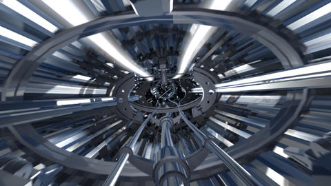 Tunnel alien Stock Video Footage