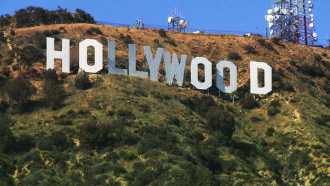 Hollywood Sign, Medium Shot Stock Video Footage