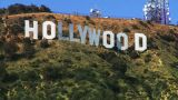 Hollywood Sign, Medium Shot stock footage