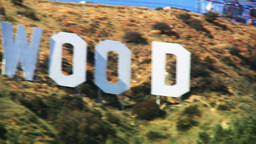 Hollywood Sign, Pan Across stock footage