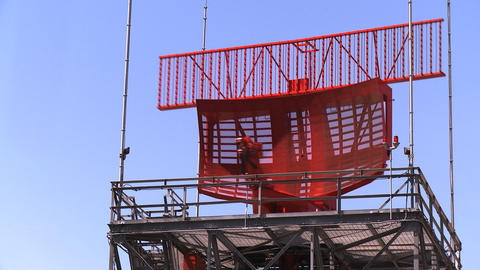 Airport Radar Tower, Medium Stock Video Footage