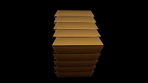 Gold Bar D2 Stock Video Footage