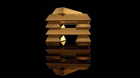 Gold Bar E2 Stock Video Footage