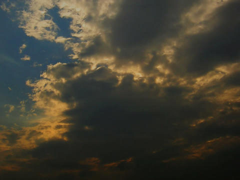EveningSky 02 mov Float of cloud in evening sky 動画素材, ムービー映像素材