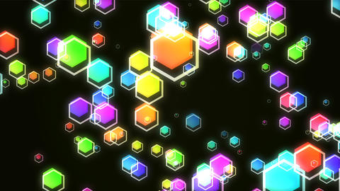 Hexagon HD 12 mov It advances in the hexagon Animation