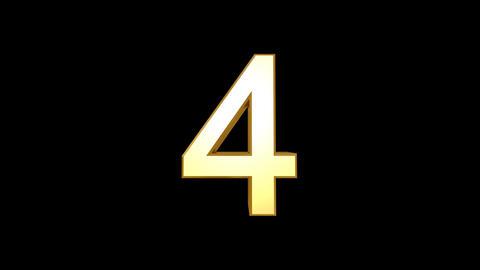 Countdown BBG Number HD Stock Video Footage