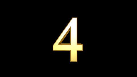 Countdown EG Number HD Stock Video Footage