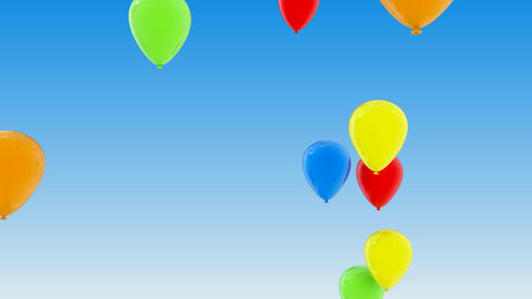 Flying Balloons Animation