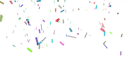Confetti With Alpha Stock Video Footage
