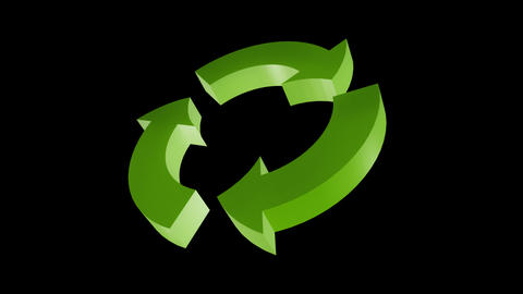 Recycle arrow HDTV Animation