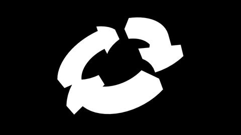 Recycle arrow HDTV Stock Video Footage