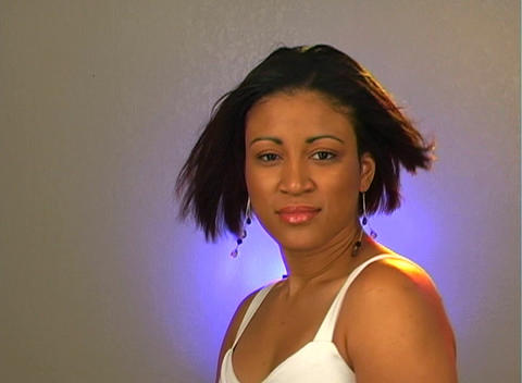 Beautiful Young Woman - Headshot (2) Stock Video Footage