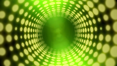 Disco Light Tunnel w/ Lens Flares (25fps) Stock Video Footage