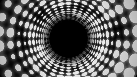 Disco Light Tunnel (24fps) Stock Video Footage