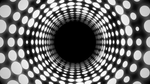 Disco Light Tunnel (30fps) Stock Video Footage