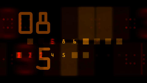 numbers bloc Stock Video Footage