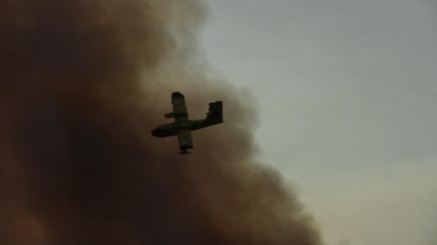 Forest fire - MA 2007waldbrand13 Stock Video Footage
