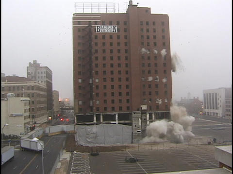 Allis Hotel Implosion Stock Video Footage