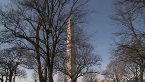 U.S. Washington Monument Stock Video Footage