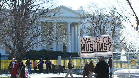 U.S. White House 04 Protest Stock Video Footage