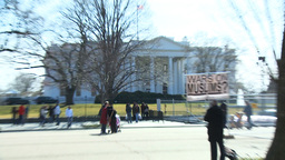 U.S. White House 04 Protest Footage
