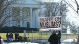 U.S. White House 04 Protest stock footage