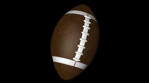 Rotating american football Stock Video Footage