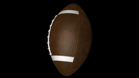 Rotating american football Animation