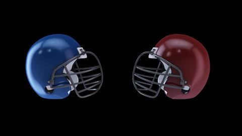 american football helmet Stock Video Footage