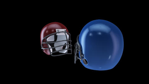 american football helmet Stock Video Footage