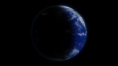 Rotating Earth Day & Night Stock Video Footage