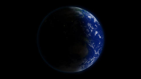 Rotating Earth Day & Night Animation
