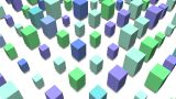 3D Cube Pop Image stock footage