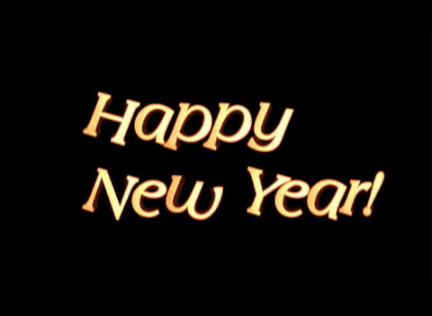 Happy New Year, 3-D Wood Grain Animation