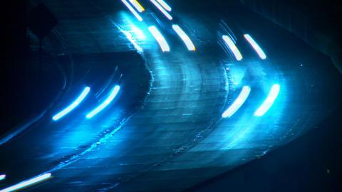 LA Freeway 04 (Time Lapse) Stock Video Footage