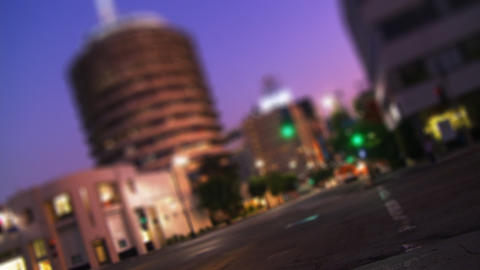 Capitol Records 02a (Time Lapse) Stock Video Footage