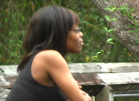 Close-up of a Beautiful Woman Outdoors (1) Stock Video Footage