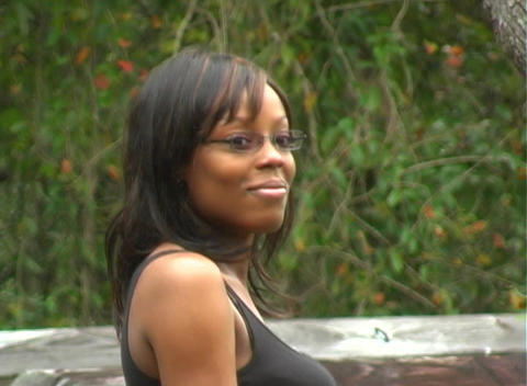 Close-up of a Beautiful Woman Outdoors (2) Stock Video Footage