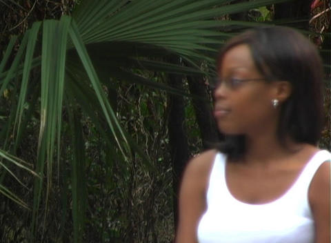 Close-up of a Beautiful Woman Outdoors (3) Stock Video Footage